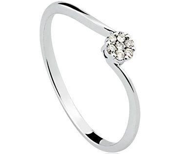 Anel em ouro branco 18K-750 com 7 Diamante com 8pts - Cod.14-2679-1-0-08