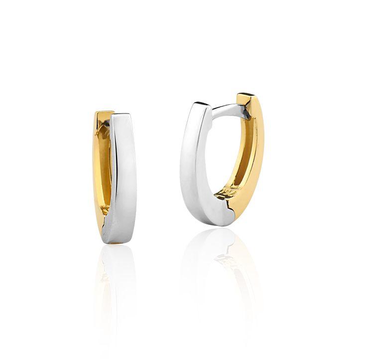 Par de Brincos em ouro branco e amarelo 18K-750 – Joalheria Buccar 0cda8bb980