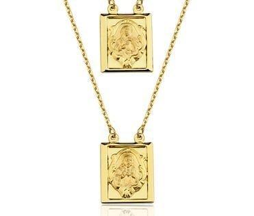 Escapulário em ouro amarelo 18K-750 - Cod.06-0569-2-000