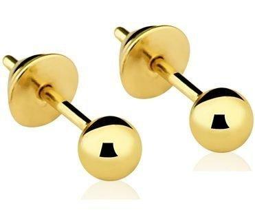 Par de Brincos Infantis em ouro amarelo - Cod.12-0023-2-000