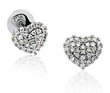 Par de Brincos em ouro branco 18K-750 com 58 Diamantes com 26pts - Cod.02-3099-1-026