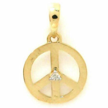 Pingente em ouro amarelo 18K-750 com 1 Diamante de 1pt - Cod.05-1239-2-001