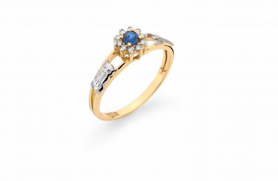 Anel Formatura em ouro 18k-750 com diamantes - 160011br