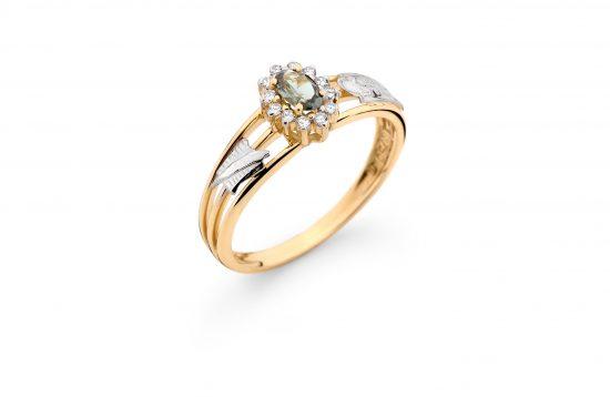 Anel Formatura em ouro 18k-750 com diamantes - 160012br