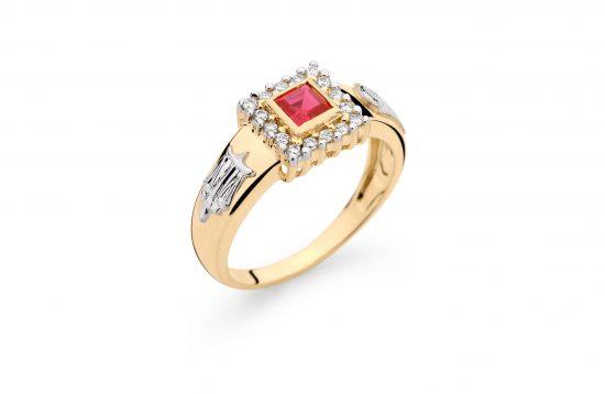 Anel Formatura em ouro 18k-750 com diamantes - 160019br