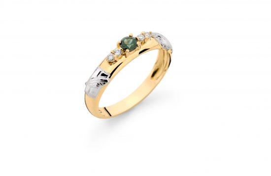 Anel Formatura em ouro 18k-750 com diamantes - 160023br