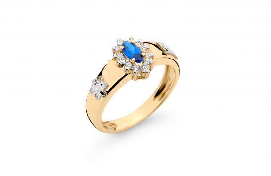 Anel Formatura em ouro 18k-750 com diamantes - 160026br