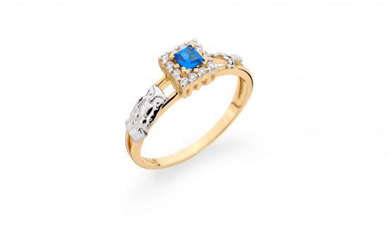 Anel Formatura em ouro 18k-750 com diamantes - 160034br