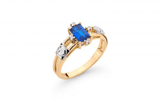 Anel Formatura em ouro 18k-750 com diamantes - 160039br