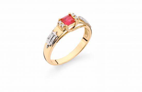 Anel Formatura em ouro 18k-750 com diamantes - 160042br