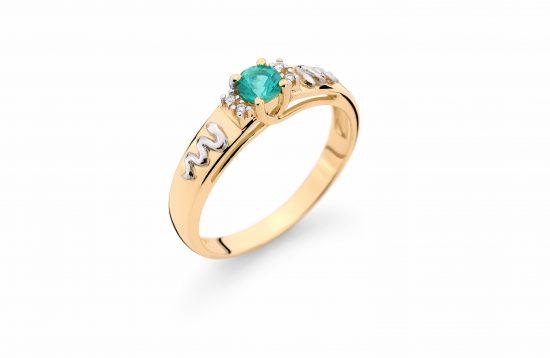 Anel Formatura em ouro 18k-750 com diamantes - 160044br