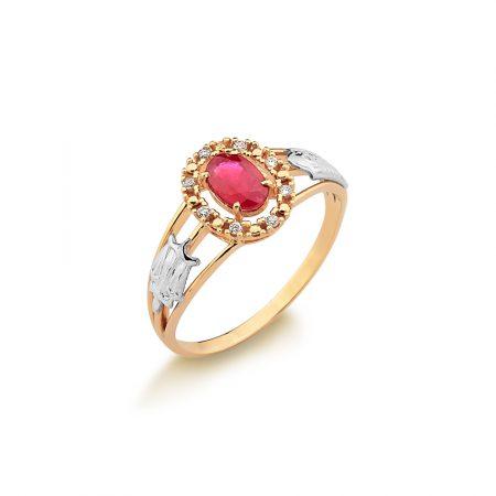 Anel Formatura em ouro 18k-750 com diamantes - 160046br