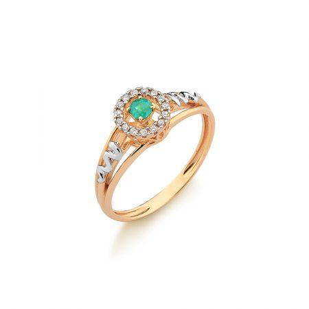 Anel Formatura em ouro 18k-750 com diamantes - 160048br