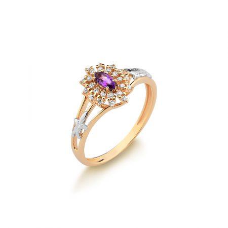 Anel Formatura em ouro 18k-750 com diamantes - 160051Br
