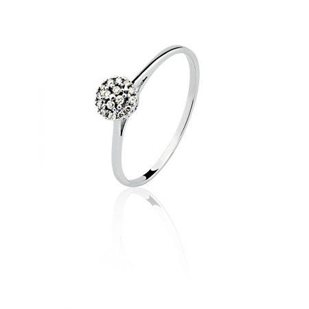Anel em ouro branco 18k-750 com diamantes - 0300381008Br