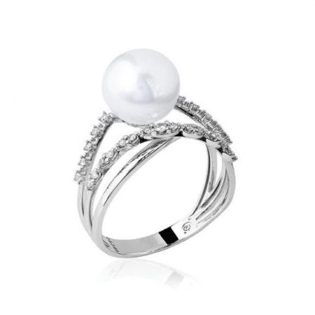 6e52a9d2062ac Anel 3 aros em ouro branco 18k com diamantes e pérola-14.3954.1.919