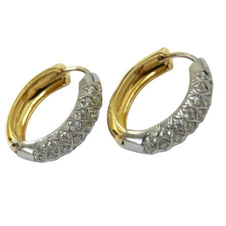 Brinco Feminino em Ouro 18K com Diamantes jbr000123-9