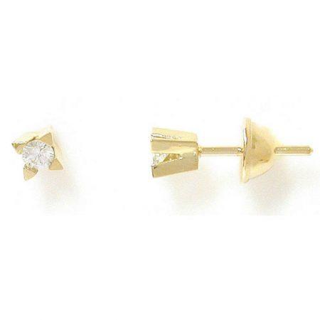 Brinco Solitário em Ouro 18K com Diamantes de 9 pontos cada 0200652018