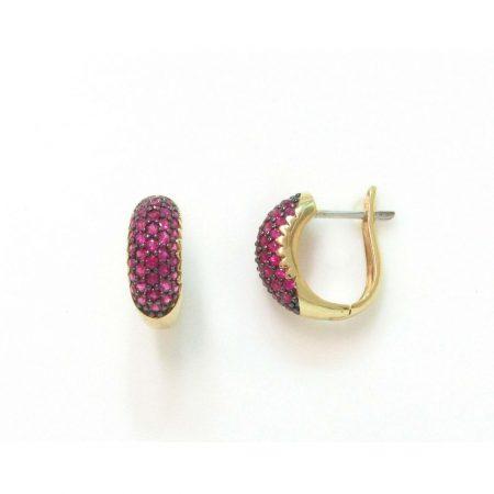 Brinco de Ouro com Rubi Pequeno 0225774503