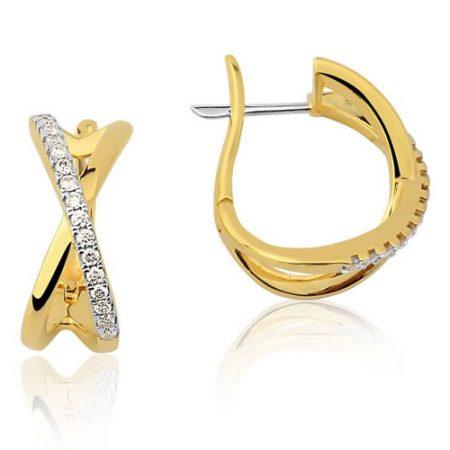 Par de Brincos de Ouro 18K com Diamantes 0236314032