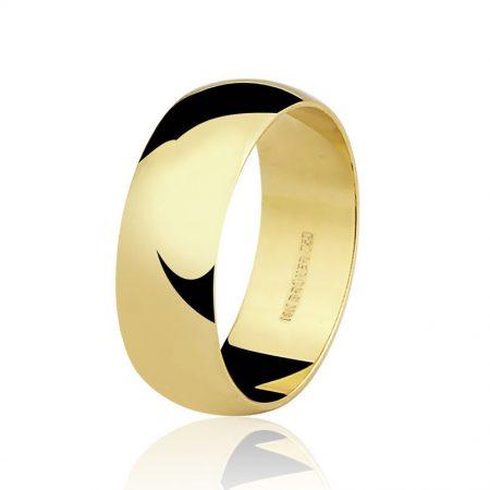 Aliança larga em ouro amarelo 18k - 7500362000