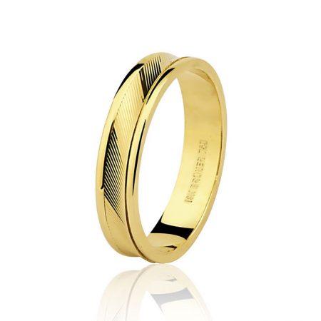 Aliança trabalhada em ouro amarelo 18k - 7501332000