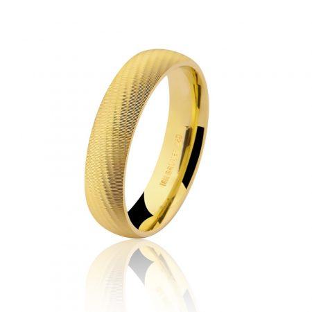 Aliança trabalhada em ouro amarelo 18k - 7502422000