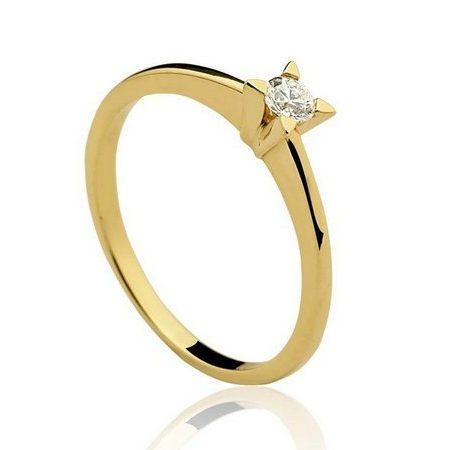 Anel-Solitário-em-ouro-amarelo-18K-750-1-Diamante-de-15pts-Cod.08-0027-2-015