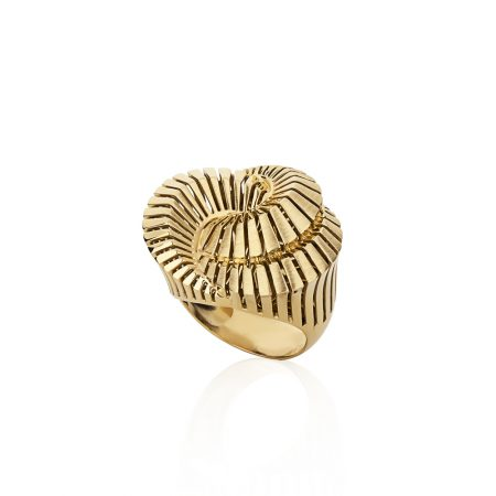 Anel caracol em ouro 18k
