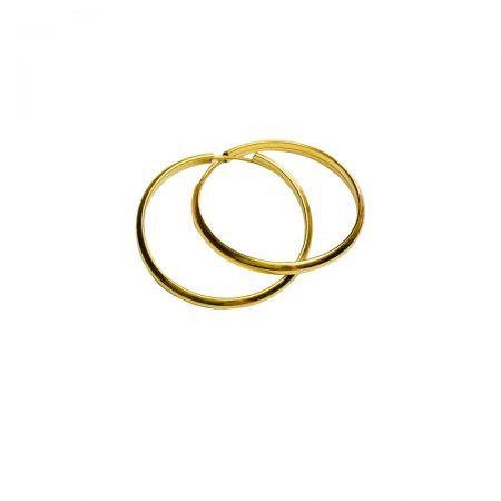 Brincos argola lisa em ouro 18k