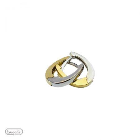 Brincos argola oval em ouro amarelo e branco 18k