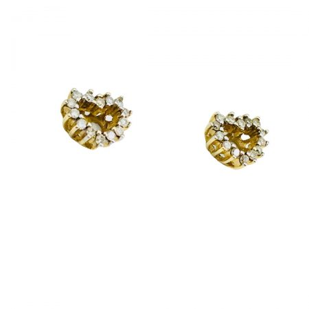 Brincos coracao em ouro 18k com diamantes