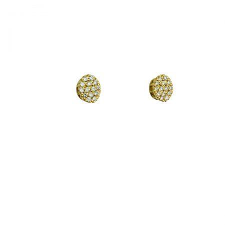 Brincos oval em ouro 18k