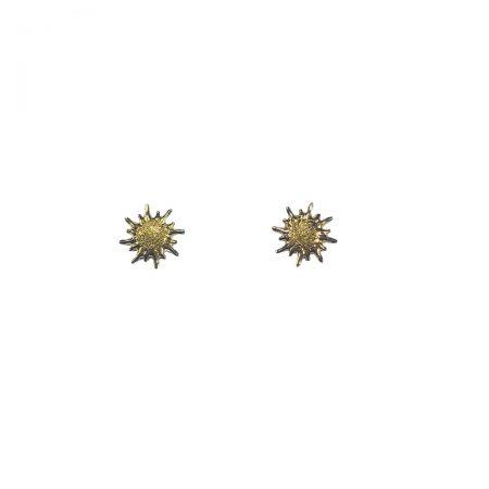 Brincos raios de sol em ouro 18k