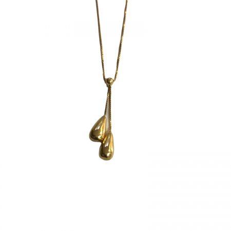 Gargantilha gotas em ouro 18k com diamantes