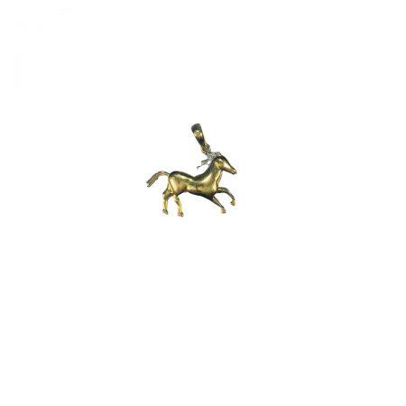 Pendente cavalo em ouro 18k