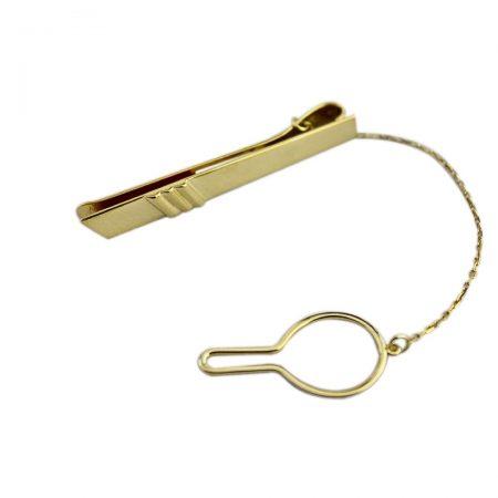 Prendedor de gravata em ouro 18k
